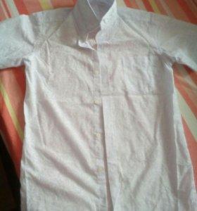 Рубашка для мальчика с коротким рукавом р.140-146