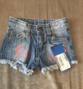 Новые детские джинсовые шорты