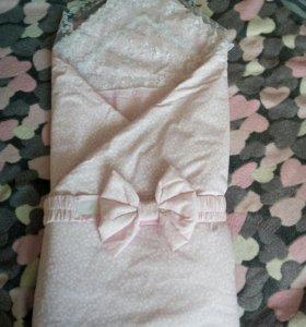Одеяло с уголком на выписку