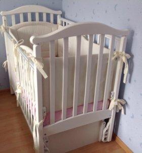 Кроватка детская + бонусы !