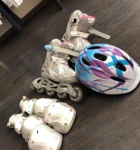 Ролики шлем защита сумка