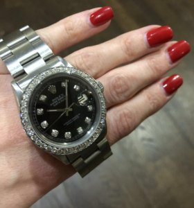 Часы ROLEX с бриллиантами 36мм. (Оригинал, винтаж)