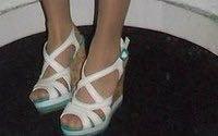 Туфли на платформе летние