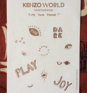 Наклейки на телефон Kenzo World