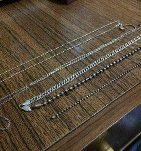 Серебрянные браслеты/цепочки