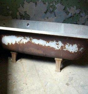 Вывоз чугунных ванн и батарей возможен демонтаж .