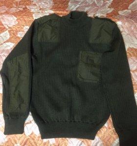 Новый! Форменный военный свитер .