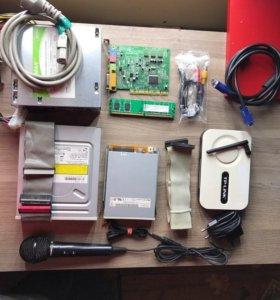 Блок питания 300W, роутер, DDR2, звуковая и другое