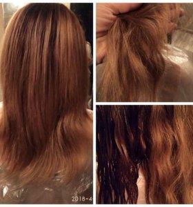 Массаж головы , полировка волос