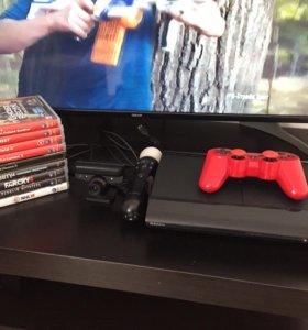 PlayStation 3 ( PS3 ) 500 gb, move 23 игры
