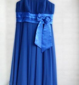 Васильковое / синее платье