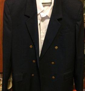 Пиджак+белая рубашка (новое).