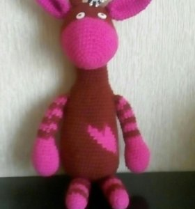 Игрушка жирафик вязаный