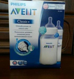 Бутылочки Avent Classic+ 330мл