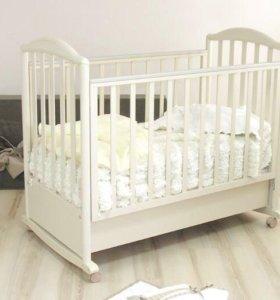 Кровать детская+матрац