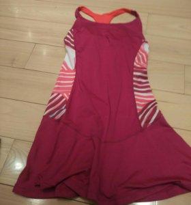 Новое сортивное платье, в сиреневом цвете
