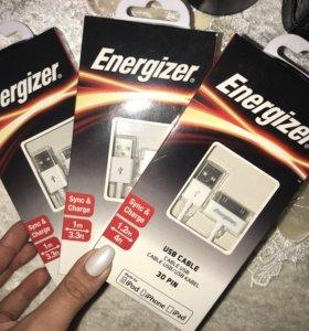 Зарядки на айфон 4 и 4s ,оригинальные Energizer
