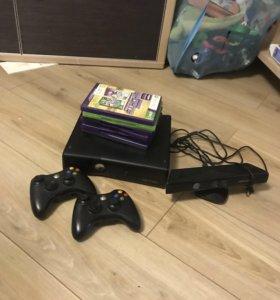 Xbox 360+кinekt+ 2 джойстика+ много игр