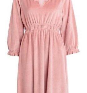 Платье-туника, велюр, новое