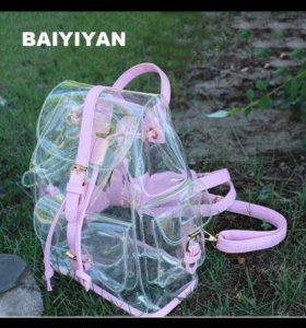 Рюкзак прозрачный.