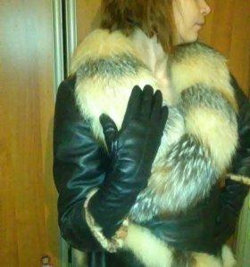 Куртка ,мех лисица.