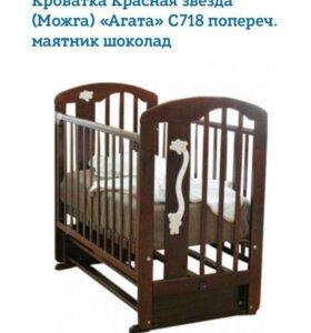 Детская кроватка ( с матрасом). Подробности л/с.