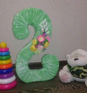 Цифра 2 на день рождение