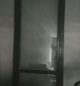 Двери дерево + стеклопакет