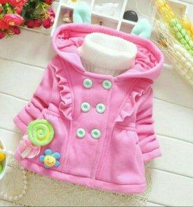 Пальто на малышку,размер 65-73см