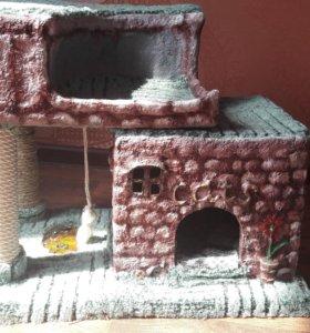 Домик для кошки с когтиточками и подсветкой