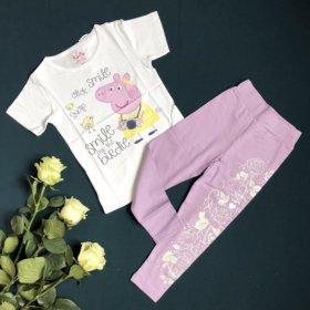 Комплект леггинсы и футболка для девочки 110, 116.