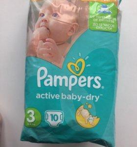 "Подгузники «Pampers active baby-dry"" 3 (5-9 кг)"