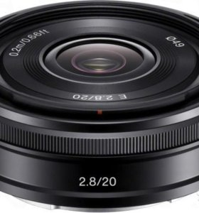 Sony E 20mm f/2.8 E-mount SEL20F28 2.8/20