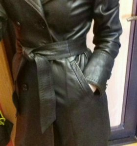 Продам кожаный плащ - куртка кожа натуральная