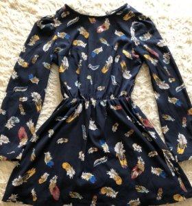 Короткое шифоновое платье