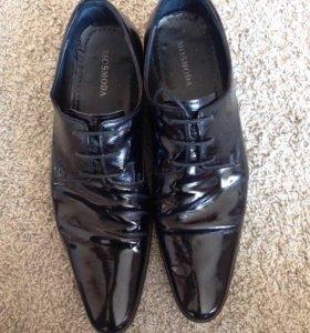 Туфли мужские лакированные 44