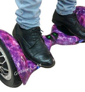 Гироскутер 10 фиолетовый космос