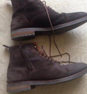 Ботинки мужские натуральные замшевые