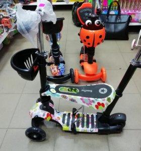 Детский самокат-беговел Scooter 5в1