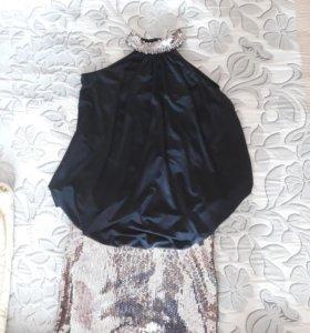 Платье нарядное с пайетками Турция
