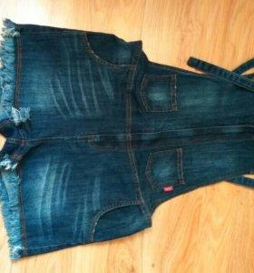 Продам новый джинсовый комбез!