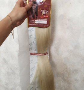 Светлые Волосы на заколках hivision оттенок 613
