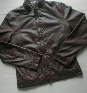 Новая мужская кожаная куртка кожанка