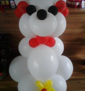 Мишка из шаров