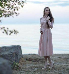 Нарядное розовое платье, новое