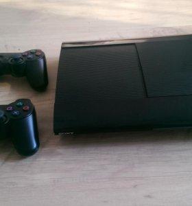 Sony PlayStation 3 super slim 320gb+2 геймпада