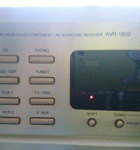аудио/видео ресивер Denon AVR-1802 в рабочем состо