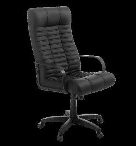 НОВОЕ офисное кожаное  кресло