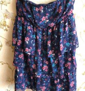 Платье летнее без бретелей