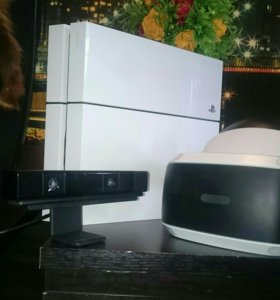 PS4(white) + sony VR + камера(диски)